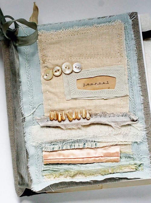 Heart Handmade UK: Mixed Media Upcycled and Quilted Journals from Rebecca Sower