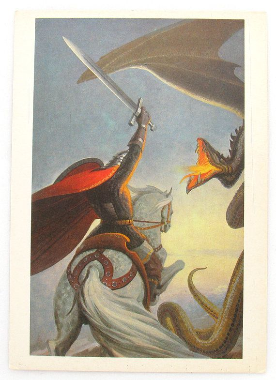 The Battle with Dragon Rus Bogatyr