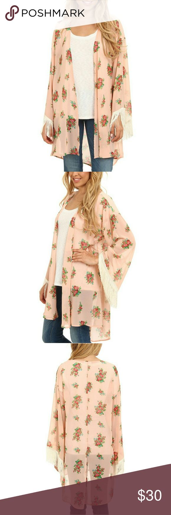 Gabriella Rocha Lucy floral print kimono, SM Brand new, never worn! The tags are not attached but it is brand new. Longer in the back, Beautiful detail on the sleeves, very feminine pattern. Very high quality Looks perfect over dresses and it can dress up any plain outfit  Msrp $69 Gabriella Rocha Jackets & Coats Blazers