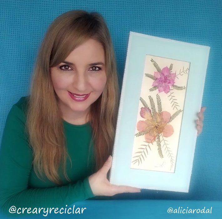 Reflejo de la naturaleza.   Una obra de arte reciclada. Madera y flores secas... el tutorial completo en mi blog  http://crearyreciclar.com/?p=2409
