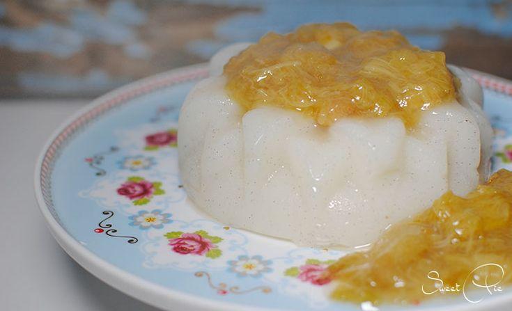 Veganer Vanillepudding mit Rhabarberkompott von Sweet Pie