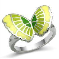 PR6087OC Motýlik - oceľový prsteň