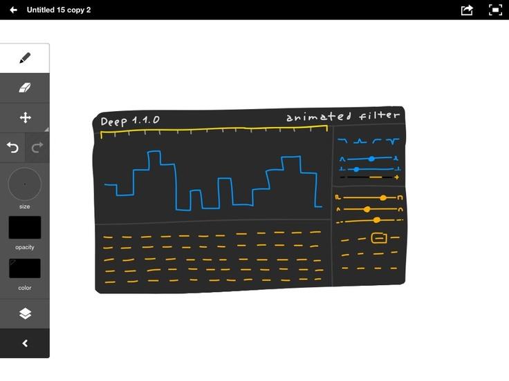Sinevibesは、フィルター・プラグイン「Deep」( http://www.sinevibes.com/deep/ )の新しいユーザー・インターフェースを、Adobe Ideasでスケッチしているそうです ^^