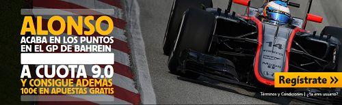 el forero jrvm y todos los bonos de deportes: betfair Fernando Alonso puntua cuota 10 F1 Bahrein...