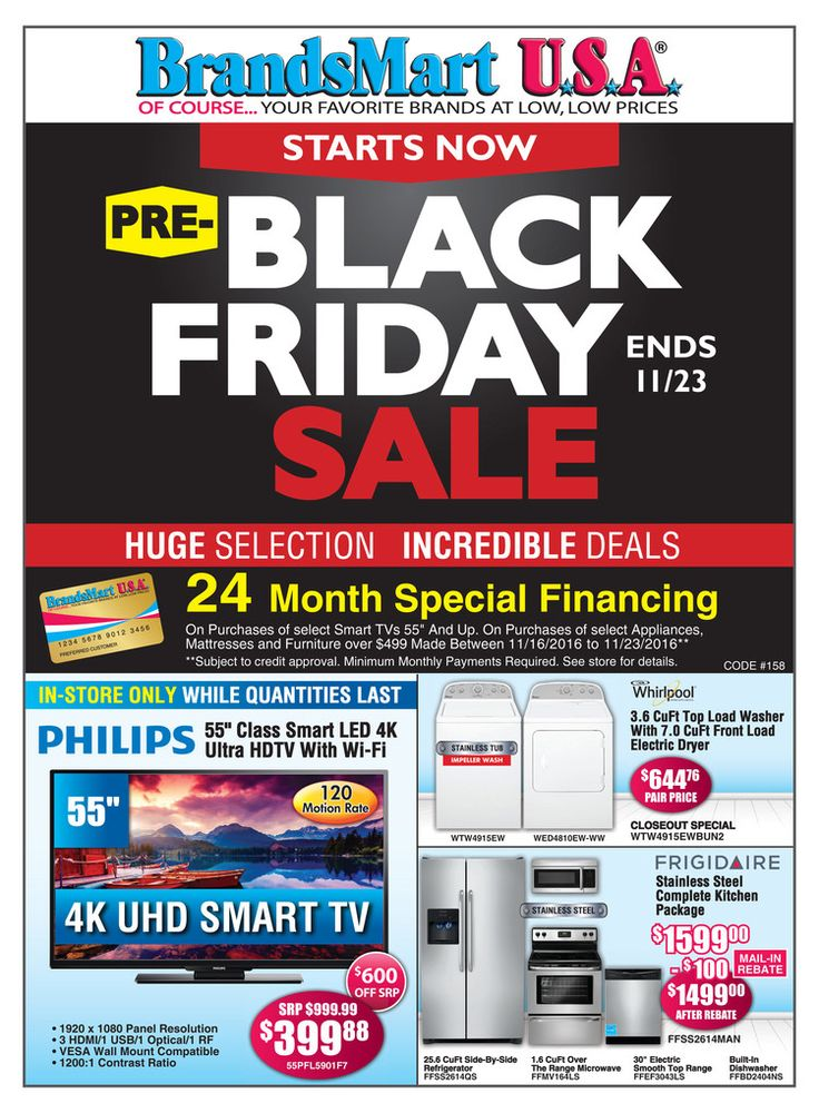 BrandsMart Black Friday 4K Ultra HDTVs & Appliances Deals - http://www.hblackfridaydeals.com/brandsmart-black-friday-deals-sales-ads/