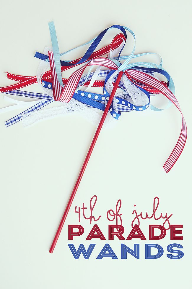 Give your crew a little pizzazz for your local Independence Day parade with these pretty wands. #July4th #Wand