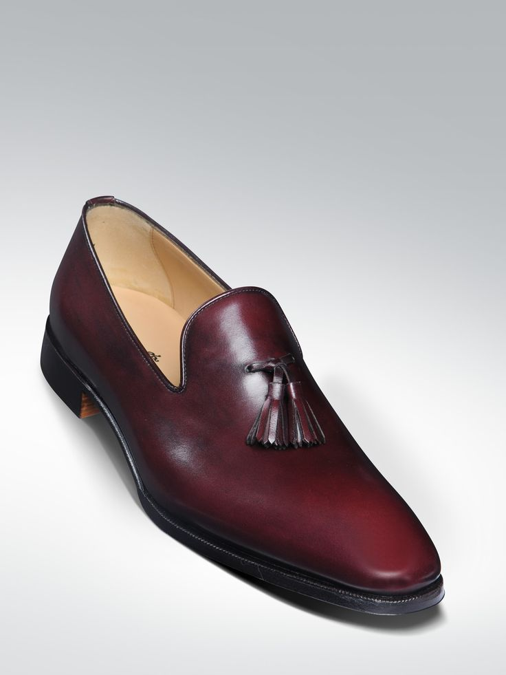 Tasselled loafers with a single leather sole. Blake stitched with closed  channel. MATTHEW COOKSON