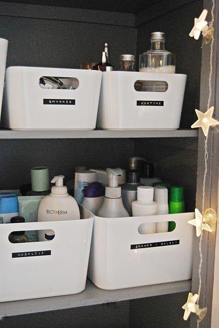 Nuevos usos: Cajas de cocina Rationell de ikea en el armario del baño : x4duros.com