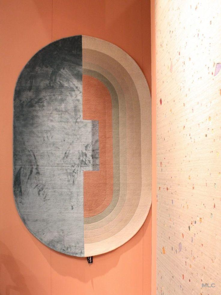 mur peche - tapis ovale peche - Le Blog déco de MLC -