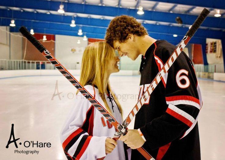 #hockey #girlfriend #boyfriend #red #couple #cute
