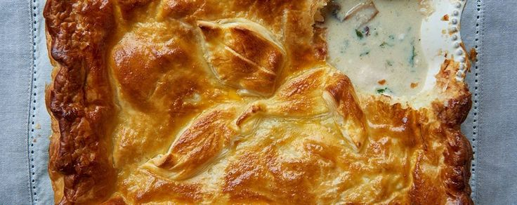 James Martin's chicken and mushroom pie