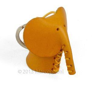 Unique Leather Keychains: ELEFANTE - Elephant Italian Leather Key Chain