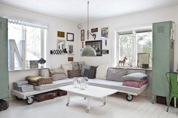 Idé! Personlig bildevegg og mobile møbler.