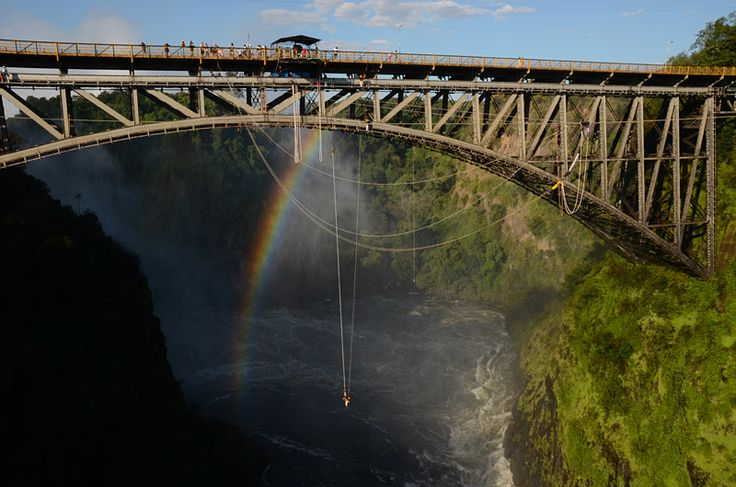 Try Bungee Jump off the #VictoriaFalls with #mountziontours.