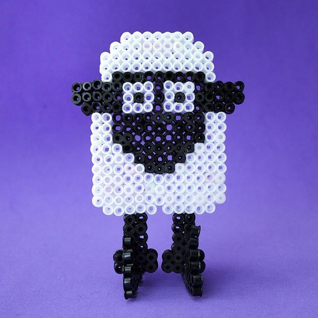 Shaun the Sheep made out of perler beads