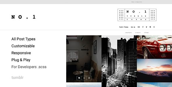 NO.1 | Creative Portfolio Theme #tumblr #theme #portfolio #web #ui #grid #gallery
