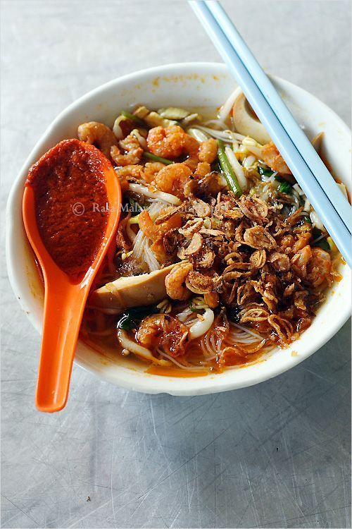 Prawn Noodles. Penang Hokkien Mee.