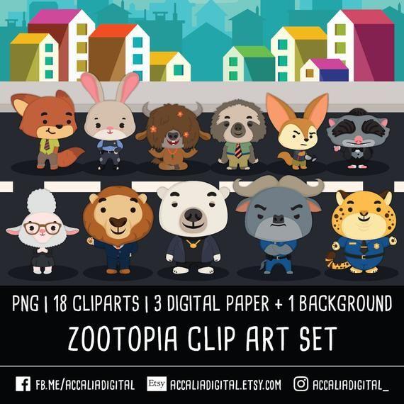 Animals Zoo Clip Art Animal Clipart Images Animal Sticker Etsy Animal Clipart Animal Stickers Clip Art