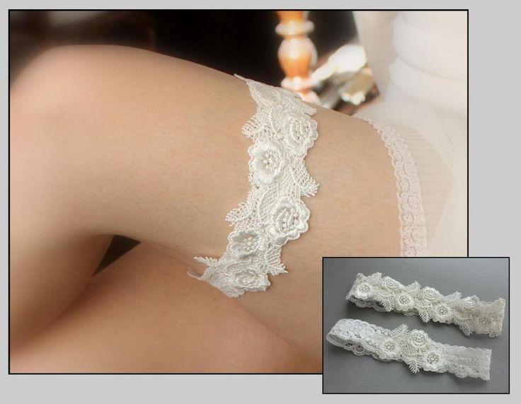 Ivory Lace Bridal Garter SET