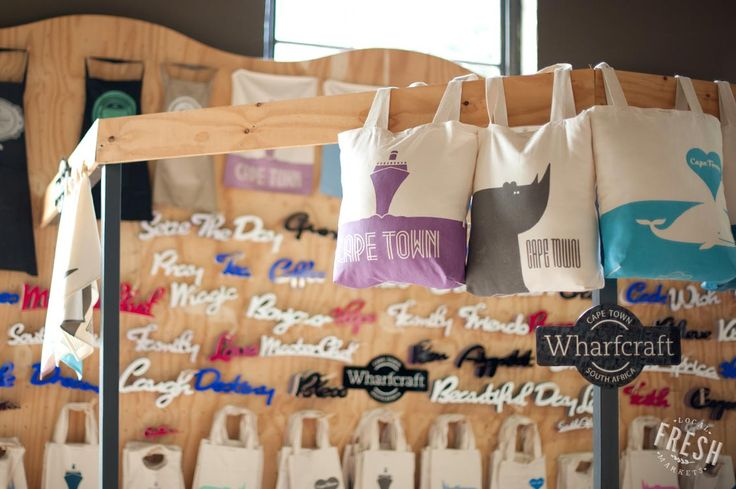 If you find you've left your shopping bag at home while you're at the V&A Market on the Wharf, Cape Town, buy a practical souvenir!