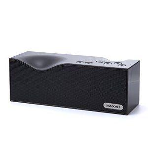 MAXAH® Bluetooth Haut-parleur portable avec batterie rechargeable 2000 mA, Bluetooth speaker, Bluetooth Enceinte sans fil avec LED…