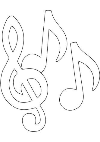 music coloring pages simple