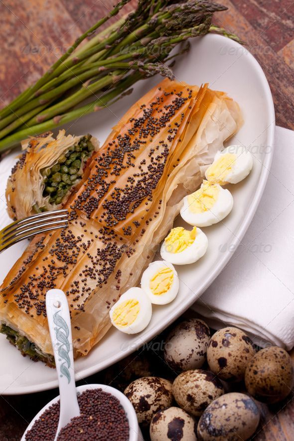 Stock photo for sale at Photodune: Asparagus In Crust With Quail Eggs
