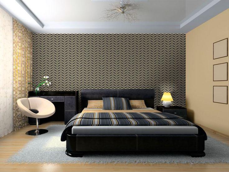Wallpaper with minimalistic motiv is our bedroom design idea #wallpaper #wallpapers #wallpapersdesign #homedecor #bimago #decoration
