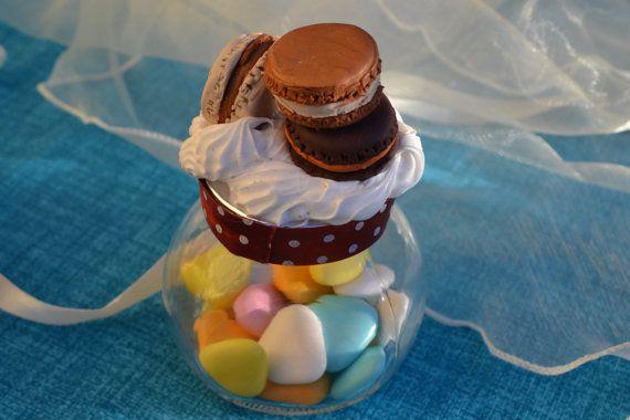 Macarons unici / Vasetti decorati con di pasta di RFAngoloSogni