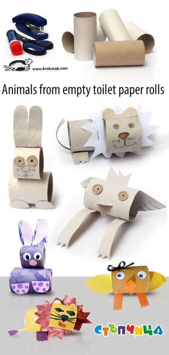 Tiere Aus Leeren Toilettenpapierrollen Basteln Pinterest