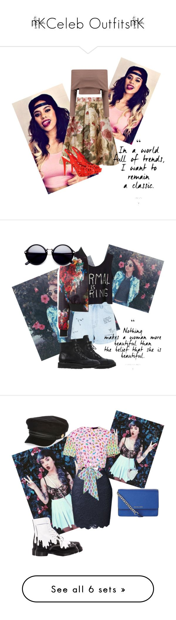 """""""×Celeb Outfits×"""" by petcheetah3 ❤ liked on Polyvore featuring Hansen, Boohoo, GUESS, New Look, Giuseppe Zanotti, Philipp Plein, Dr. Martens, LE3NO, Manish Arora and MICHAEL Michael Kors"""