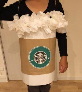 スタバ風フラペチーノのハロウィンコスチュームの作り方♪ ダンボールDIYで簡単に作れる♪ ハロウィンに手作り衣装で仮装をしよう③