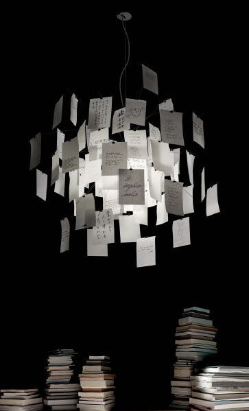 Lampe suspension contemporaine (papier japonais) - ZETTEL'Z 5 - INGO MAURER