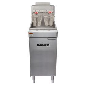 Cayvo 40-Lb 2-Basket 90,000-Btu Commercial Deep Fryer Cf4090n