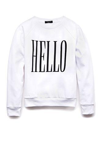 Hello Goodbye Sweatshirt (Kids) | FOREVER21 girls - 2000075286