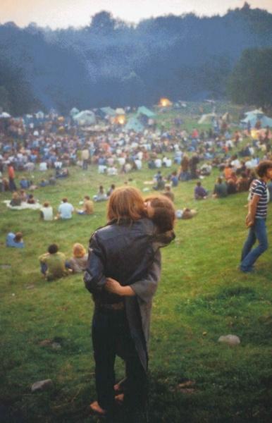 Woodstock, Bethel, New York, 1969 par Elliott Landy.