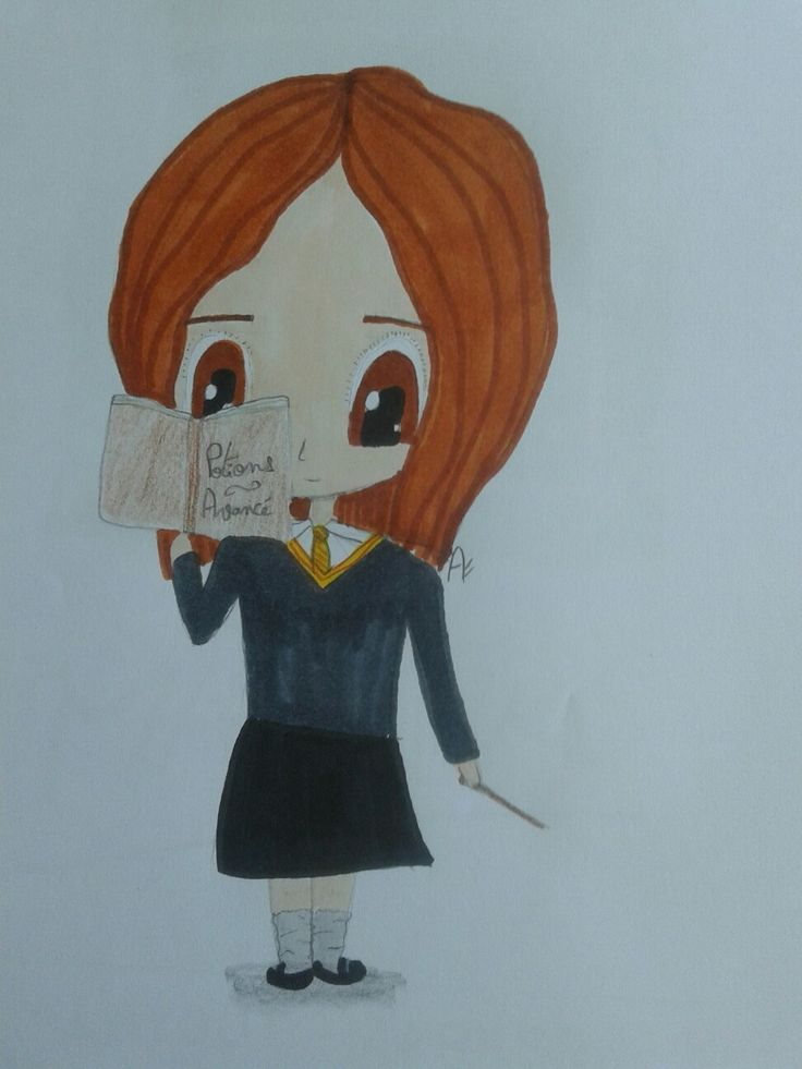 Hermione chibi Les dessins d'Anna Blog de dessin