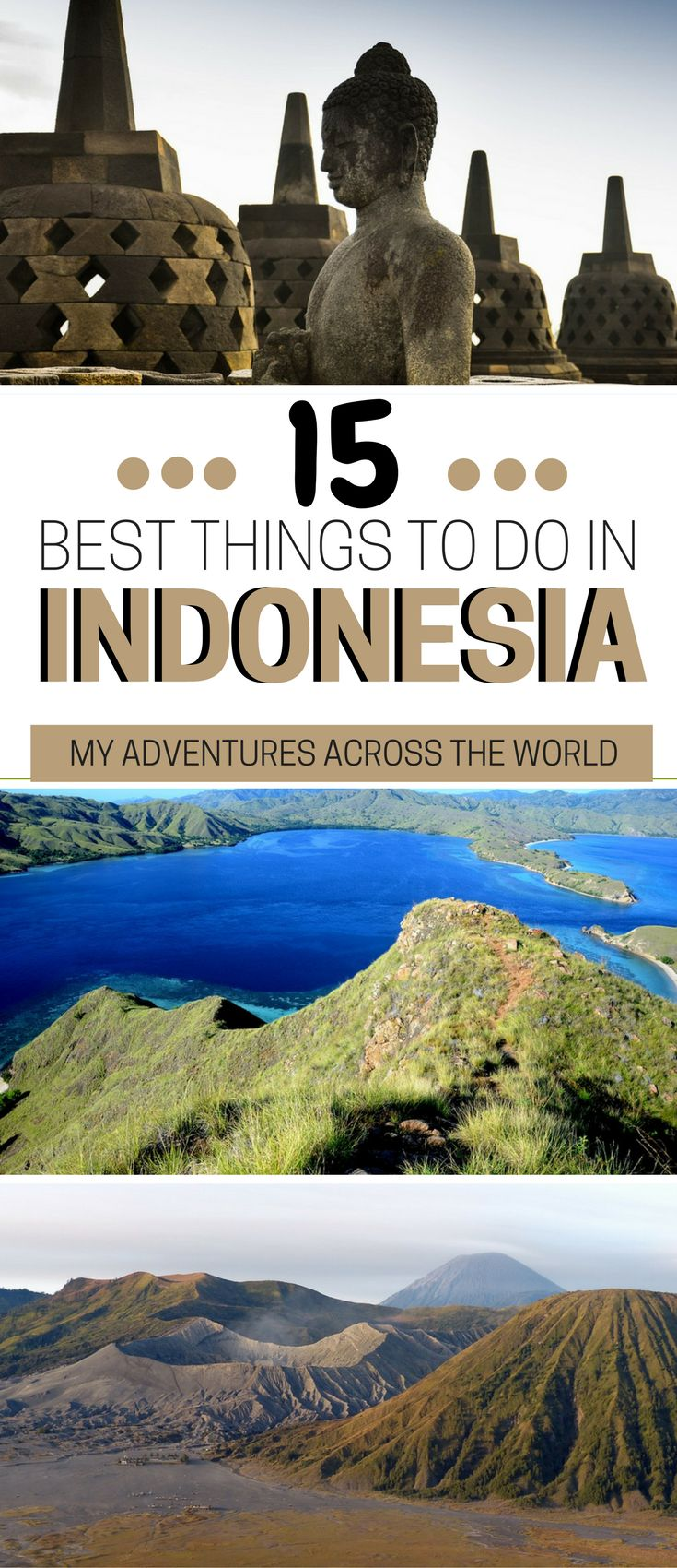 Temples, beautiful beaches, Komodo dragons and volcanoes... Indonesia is much more than Bali! if you are wodnering what to do in indonesia, check out the 15 best things to do in Indonesia + Indonesia travel tips and a list of the most beautiful places to visit #Indonesia #Indonesiatrip - via @clautavani