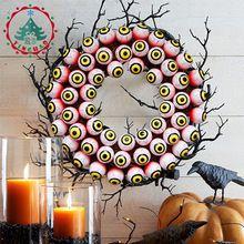Donnie darko inhoo Scary Halloween suprimentos de Férias Feliz Decoração Do Partido do Dia Das Bruxas Dia Das Bruxas Enfeite cor Vermelha do sangue globo ocular(China (Mainland))