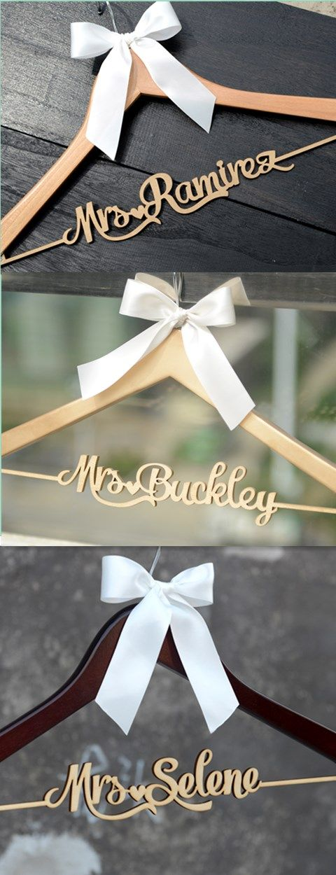 different colorways of CML004 Bridenew personalized wedding hanger. Gift this bridal hanger in a wedding shower you will be see the  bride-to-be's tears.