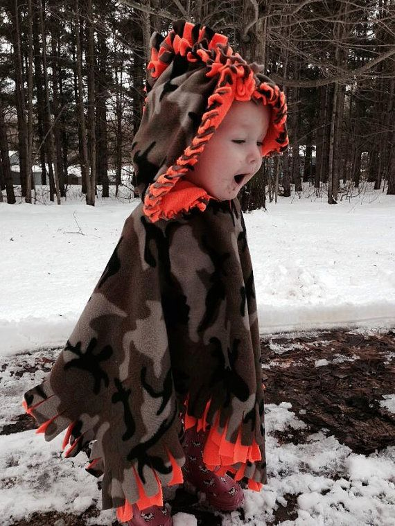 Children's No-Sew Fleece Poncho by ClissoCrafts on Etsy