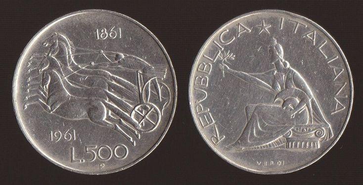 Valore Moneta 500 lire Unità d'Italia in Argento