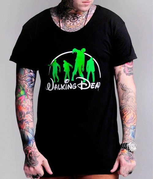 THE WALKING DEAD TEE Who doesn't watch this show? Scoop neck black cotton tee from those crazy kids at Scared til Death.