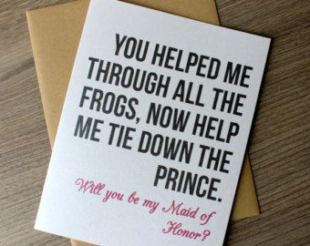 Will you Be My Maid of Honor, Maid of Honor Card, Will you Be my MOH Card Funny, Bridesmaid Proposal, Maid of Honor Gift