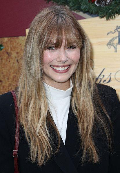 Elizabeth Olsen Long Wavy Cut with Bangs