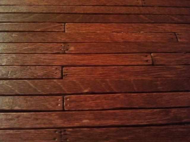 How to make miniature hardwood floor with Sedona craft sticks