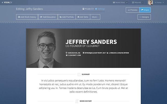 20 creative resume website templates to improve your online presence online resume website examples - Online Resume Website Examples