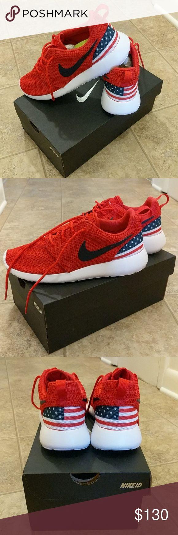 Nike USA Roshe Sneakers Custom Nike iD Team USA Roshe Sneakers Nike Shoes Sneakers