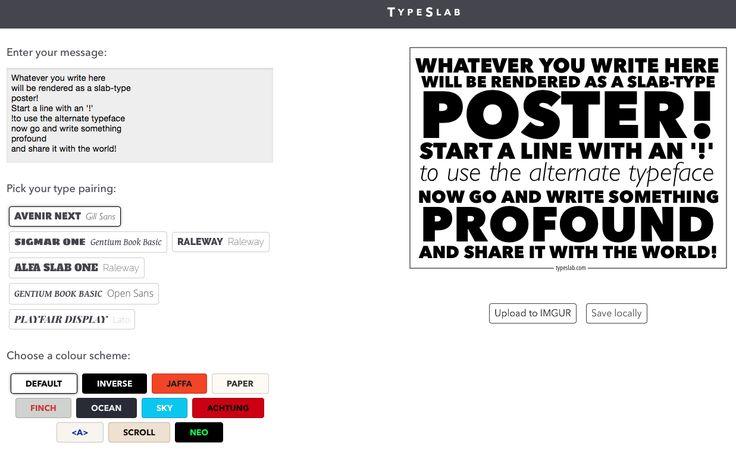 AYUDA PARA MAESTROS: TypeSlab - Crea y comparte llamativos pósters