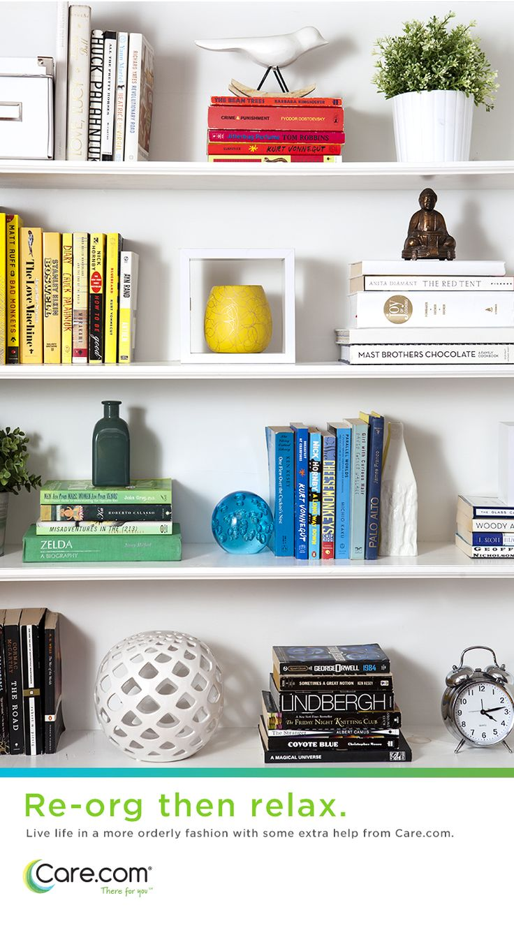 Co colour coordinated bookshelf - Beautiful Bookshelves Design Ideas For Organizing Small Spaces Help For Moms
